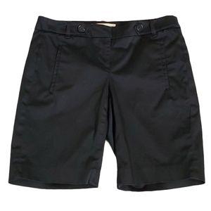 Loft Black Chino Shorts Size 0